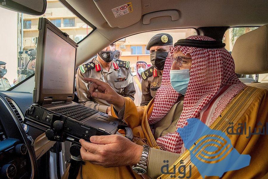 سمو أمير القصيم يطلق التطبيقات الحديثة للمركبات الأمنية ...